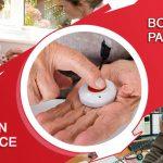 Bracelet Medical, Bouton d'urgence et Système d'alarme pour personnes âgées