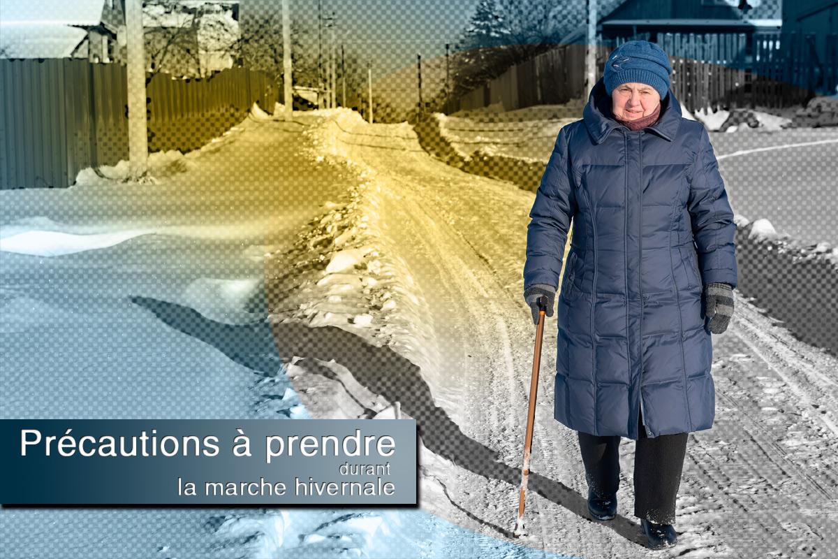 Quelques astuces pour éviter de se blesser pendant une marche l'hiver