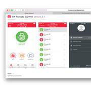 Un exemple de l'application mobile GX Remote Control pour Galaxy Flex et Galaxy Dimension de Honeywell.