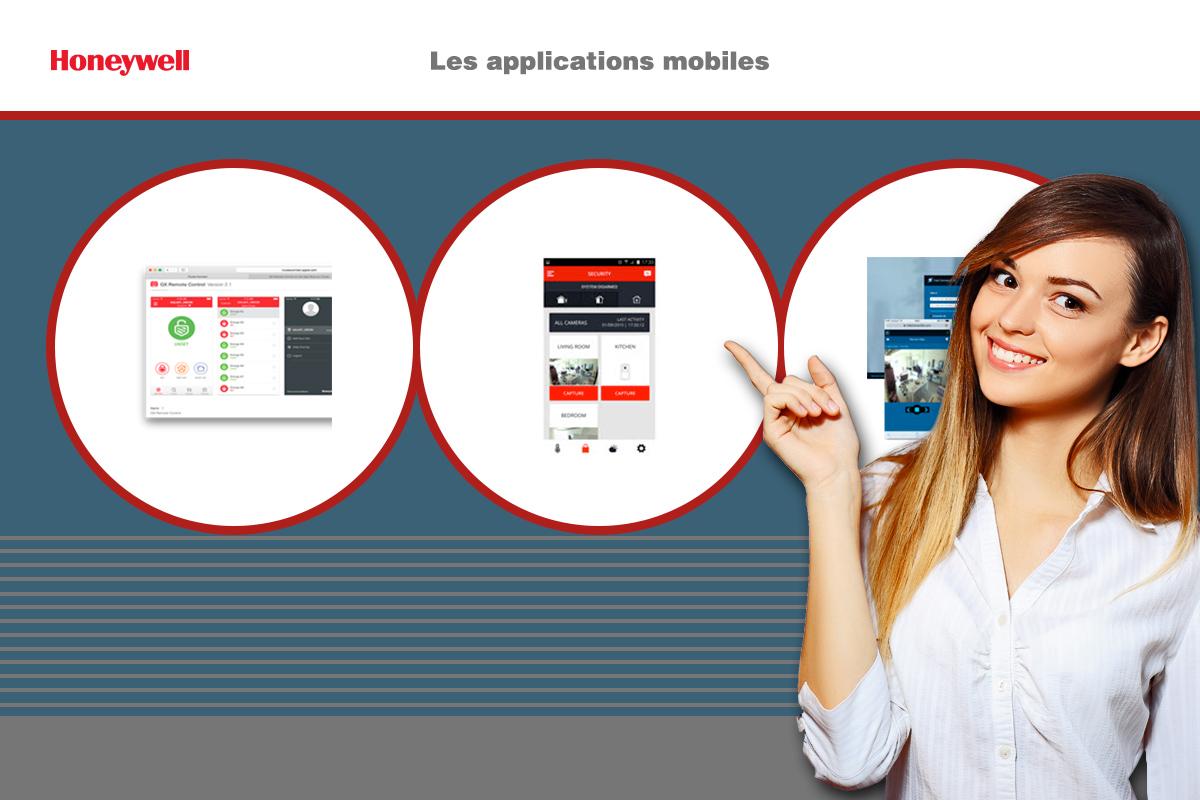Téléchargez une application mobile pour contrôler votre système d'alarme Honeywell.