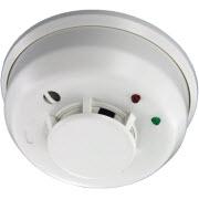 Un détecteur de fumée sans fil fabriqué par Honeywell.