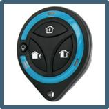 La télécommande bidirectionnelle pour centrale d'alarme sans fil Domonial.