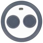 Voici un bouton de panique à double appui pour système de sécurité sans fil Domonial.