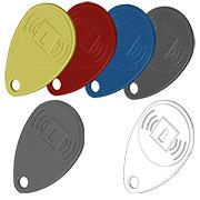Des badges de proximité colorés pour la centrale d'alarme sans fil Domonial.