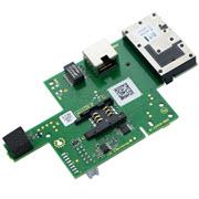 Module Ethernet et GSM avec connecteur RJ45 pour centrale Domonial.