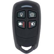 Contrôlez votre centrale d'alarme sans fil Le Sucre avec cette télécommande à 4 boutons.