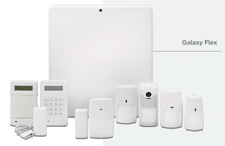 Honeywell présente la gamme Galaxy Flex en centrales d'alarme filaires.
