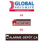 ▷ Système d'alarme : Global Sécurité Vs Securforce Vs Alarme-dépôt.ca